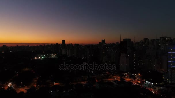 Sao Paulo-Stadt bei Nacht