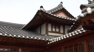 amazing architecture of traditional Korean building, Seoul, South Korea