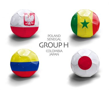 Group H (Poland, Senegal, Colombia, Japan) tournament in Russia