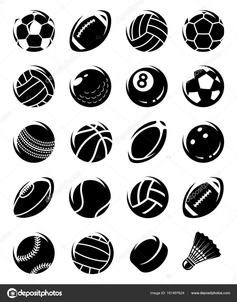 bc888bcea5a Colección deporte pelotas set, editar tamaño y color, vector - vector:  pelotas de deporte — Vector de Vasilev_Ki