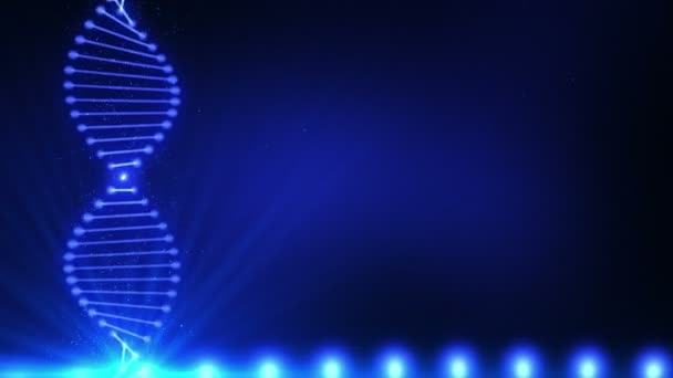Abstract vertical DNA chain