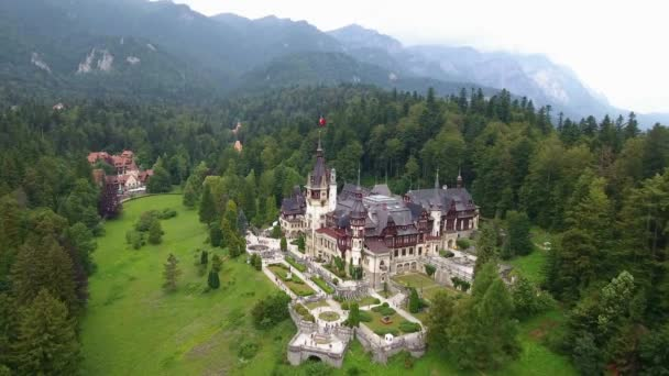 Peles Castle in forest 2
