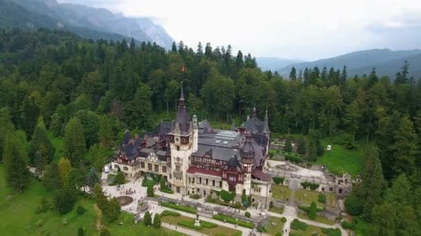 Peles Castle in forest 1