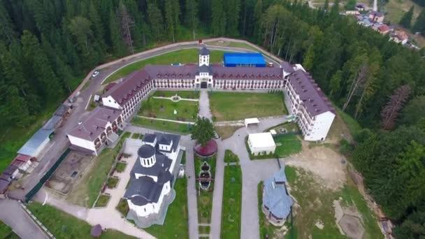 Aerial view of Caraiman Monastery - Busteni, Romania 5