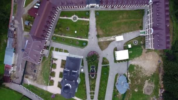 Aerial view of Caraiman Monastery - Busteni, Romania 4