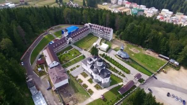 Aerial view of Caraiman Monastery - Busteni, Romania 1