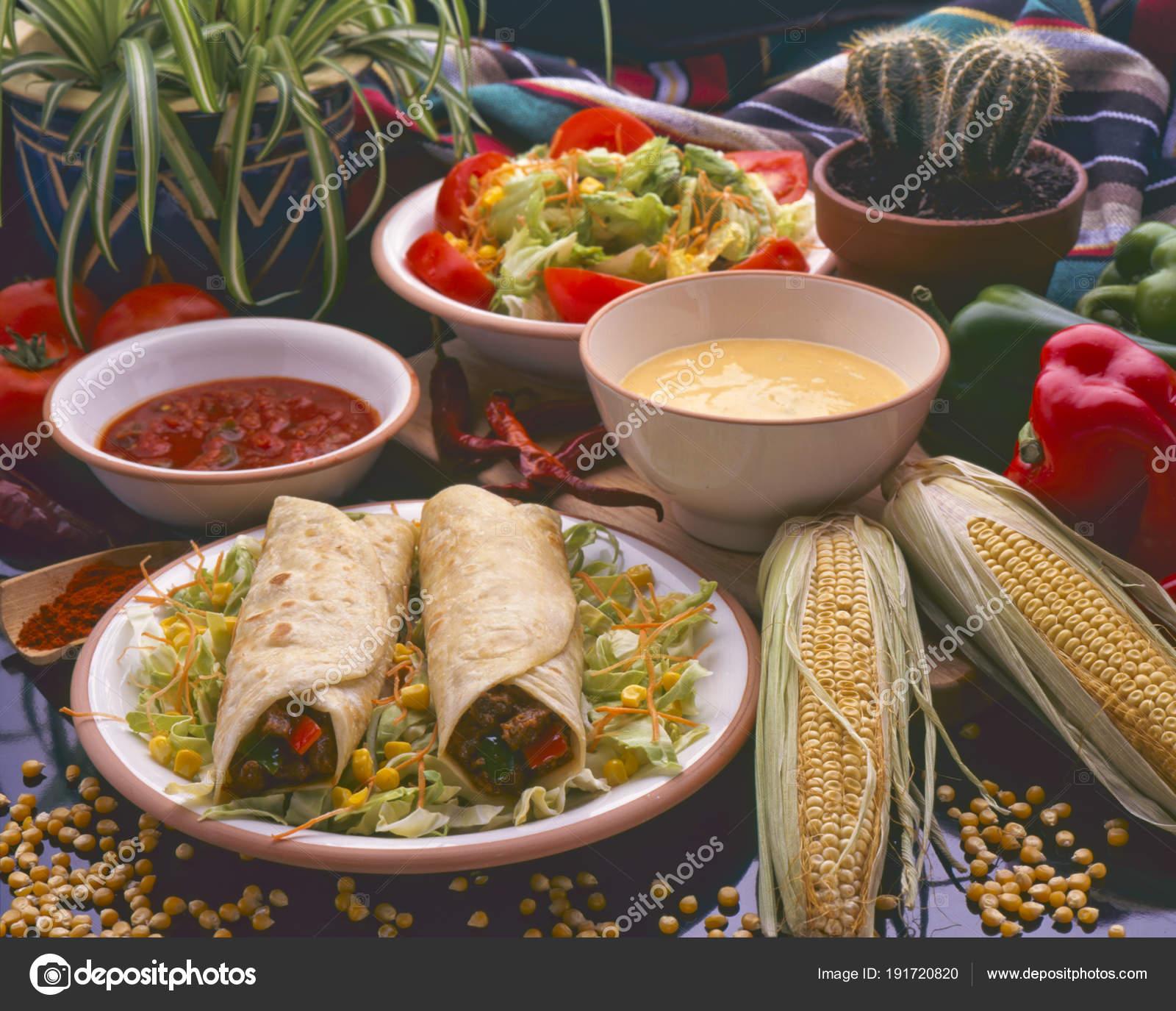 Tex-Mex-Essen. Burritos. — Stockfoto © pathastings #191720820