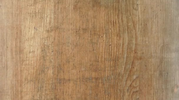 wooden cutting board background texture closeup with copy space pan shot 4k