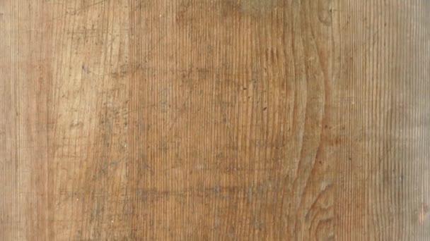 Holz Schneidebrett Hintergrund Textur Nahaufnahme mit Kopierraum Schwenk Schuss 4k