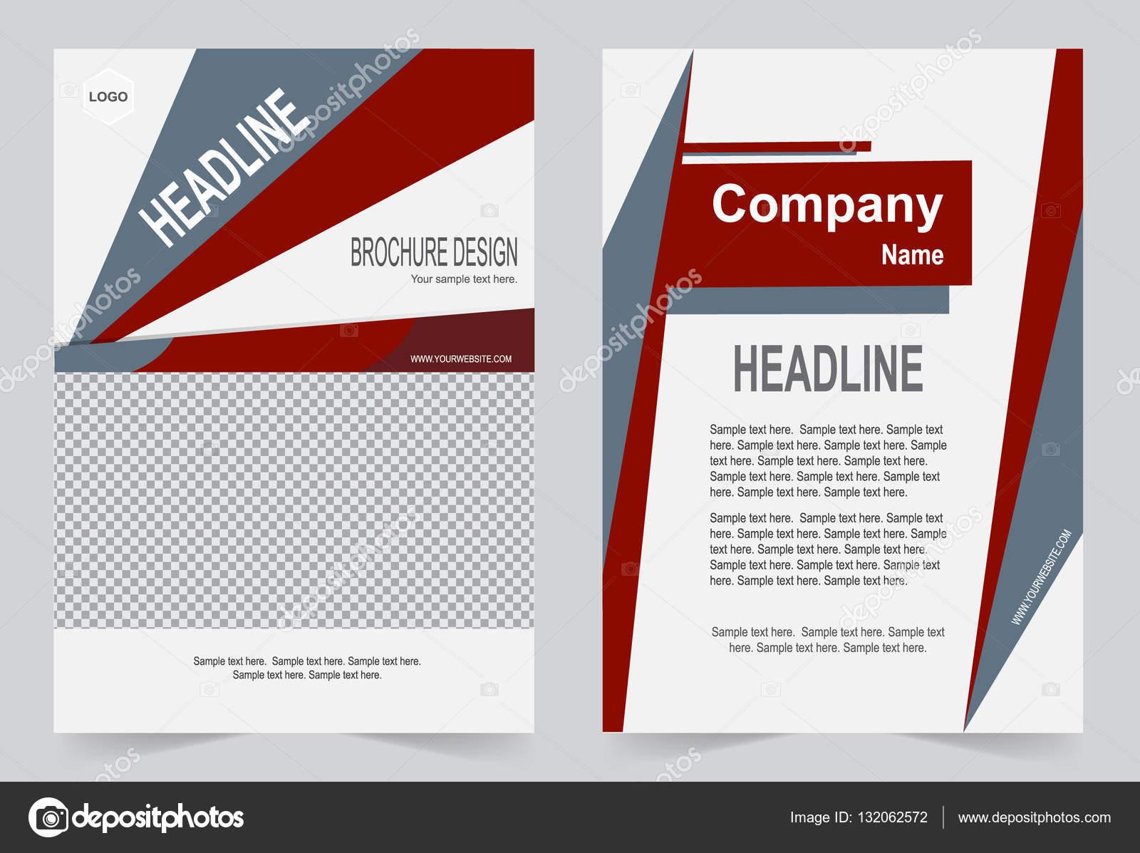 Broschüre Vorlage, Flyer Design, rote abstrakte Vektor Hintergrund ...