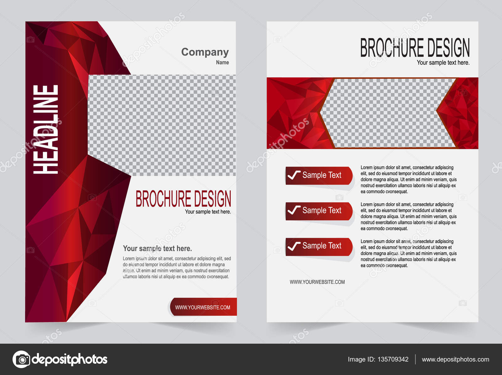 Broschüre, Flyer Design rot-Vorlage — Stockvektor © keath369 #135709342