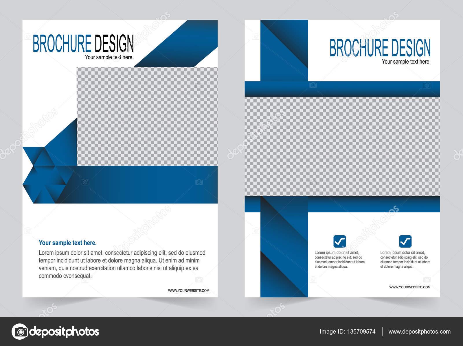 Broschüre Vorlage, Flyer Design Blau — Stockvektor © keath369 #135709574