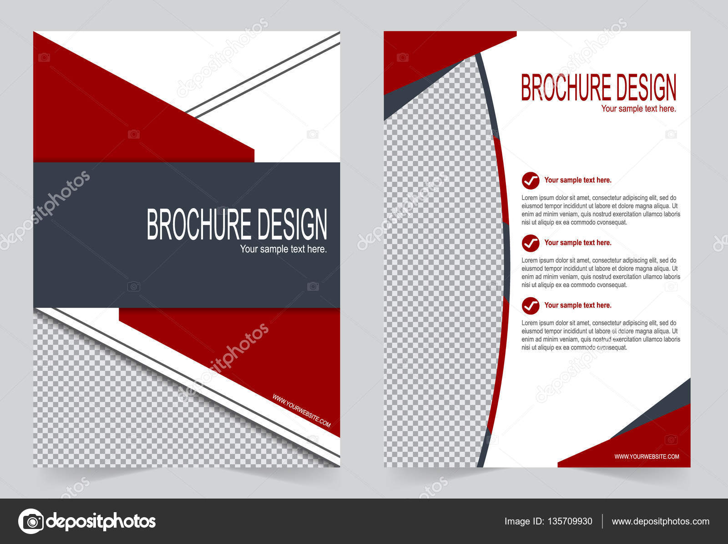 Broschüre Vorlage, Flyer Design rot — Stockvektor © keath369 #135709930