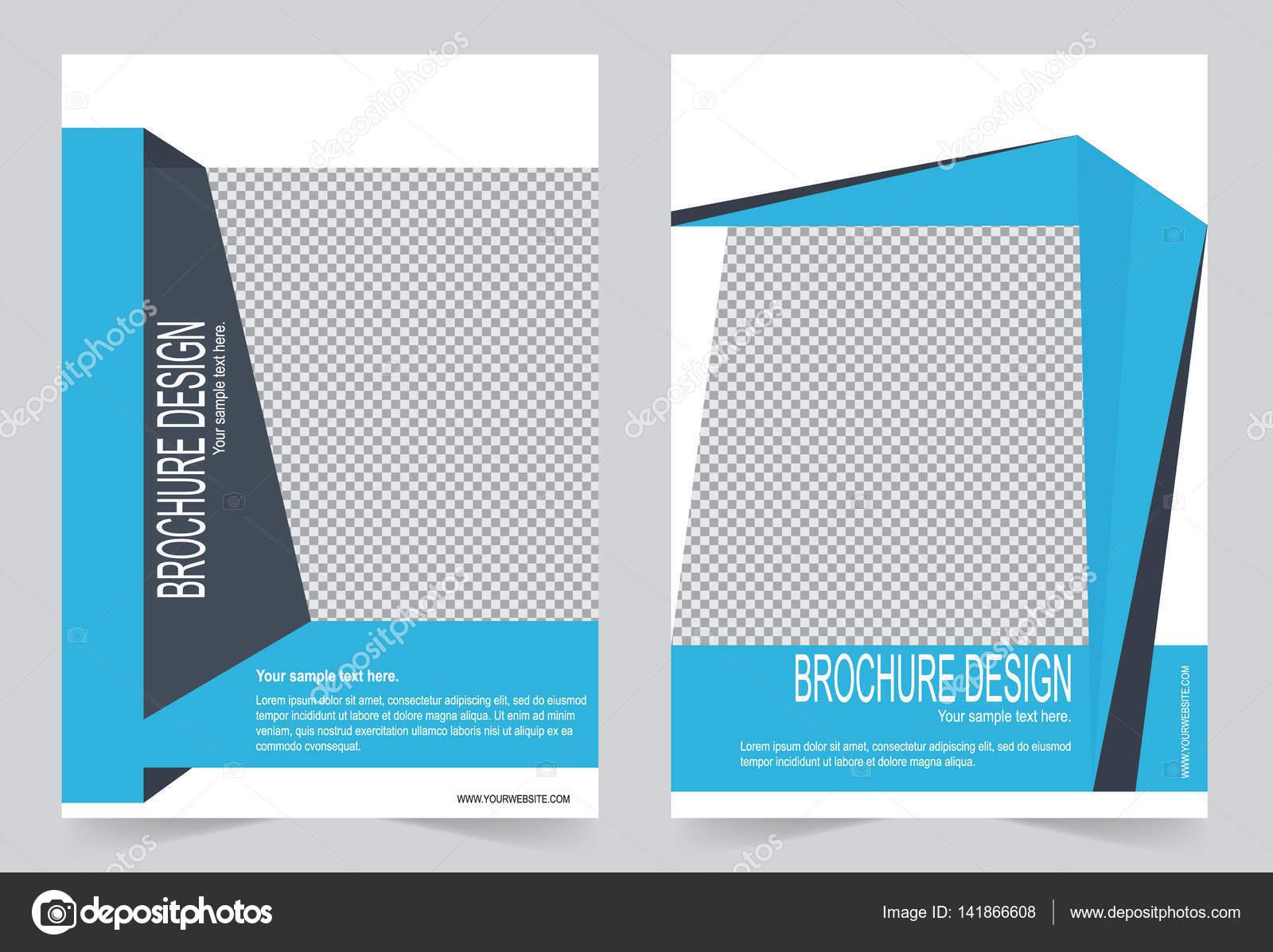 Plantilla folleto plantilla de diseño azul Flyer — Vector de stock ...