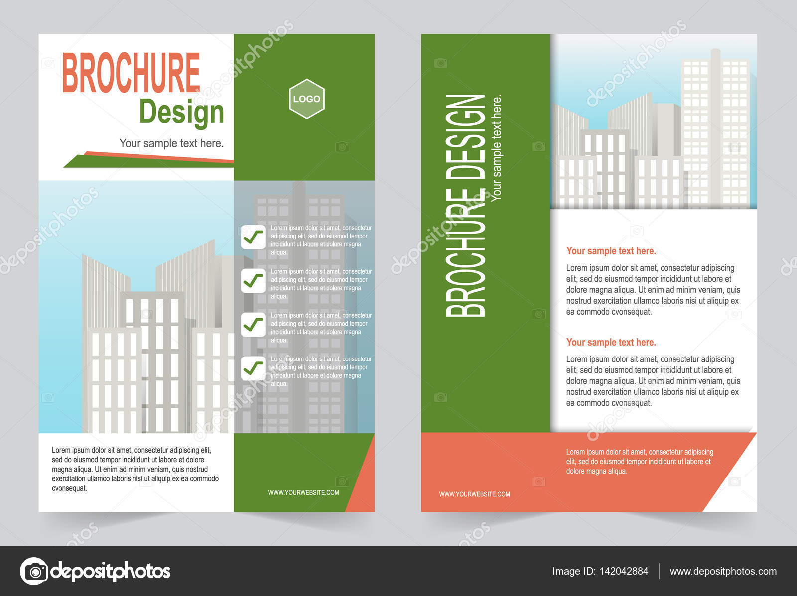 Broschüre Vorlage, Flyer Design grün — Stockvektor © keath369 #142042884