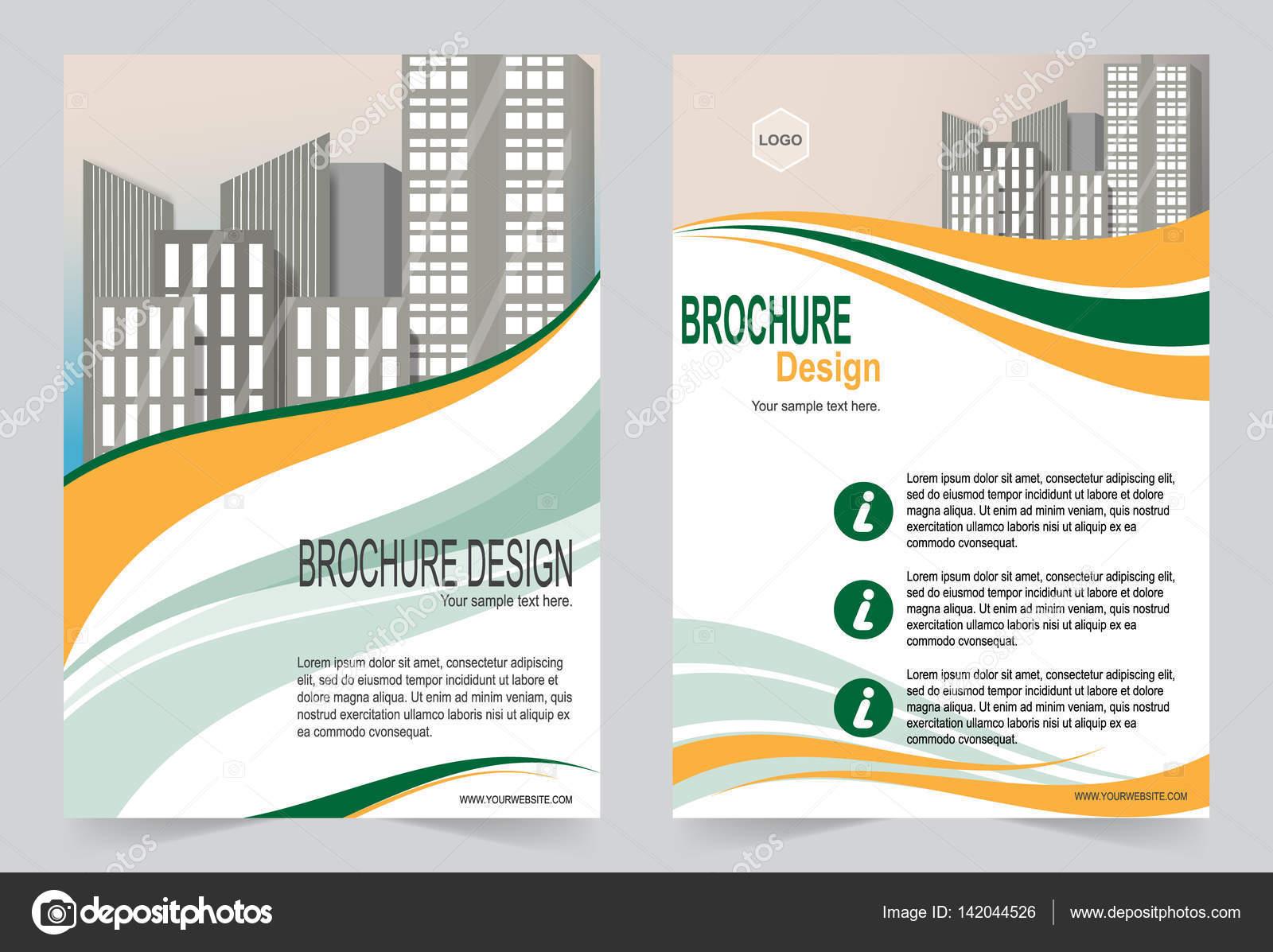 Broschüre Vorlage Flyer Design Blau-Vorlage — Stockvektor © keath369 ...