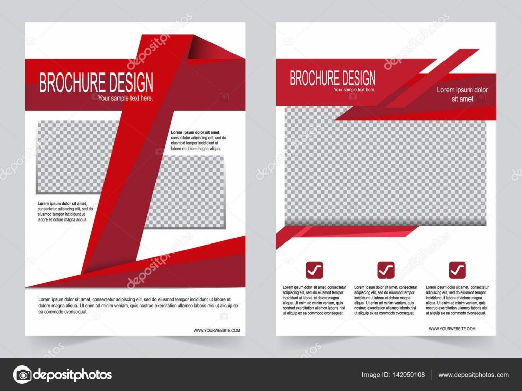 Rote Broschüre Vorlage Flyer design — Stockvektor © keath369 #142050108