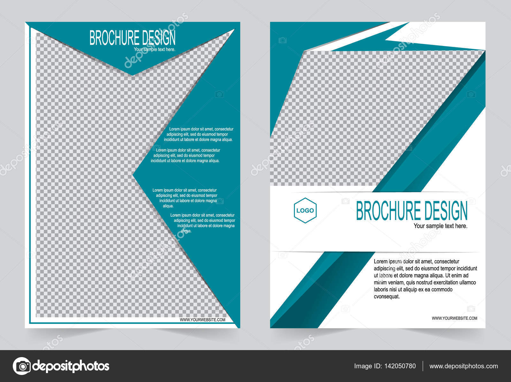 Grüne Broschüre Vorlage Flyer designoster — Stockvektor © keath369 ...