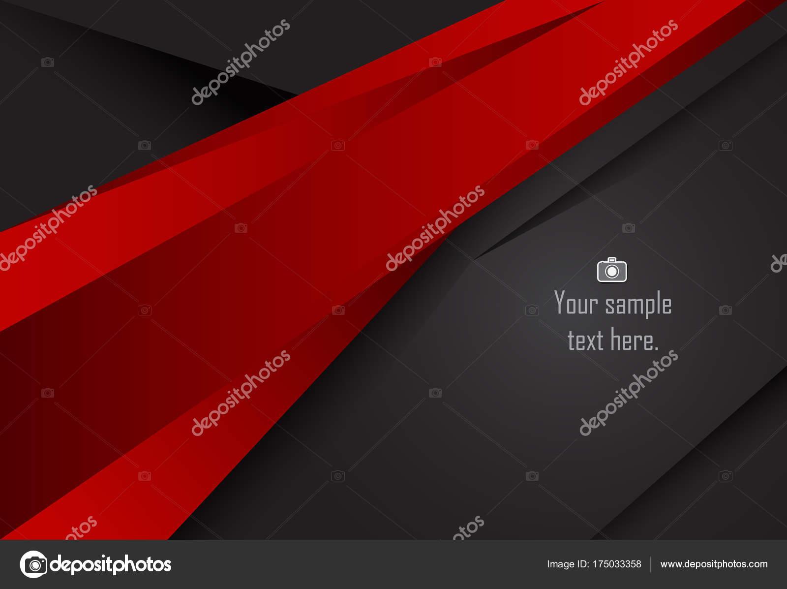 Rojo y negro Resumen fondo geométrico de capa — Vector de stock ...
