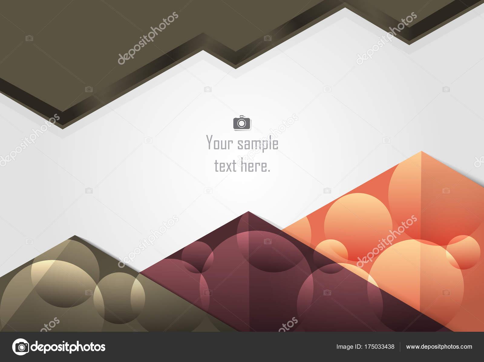 capa abstracta ondulada y triángulo fondo para tarjeta, bus anual ...