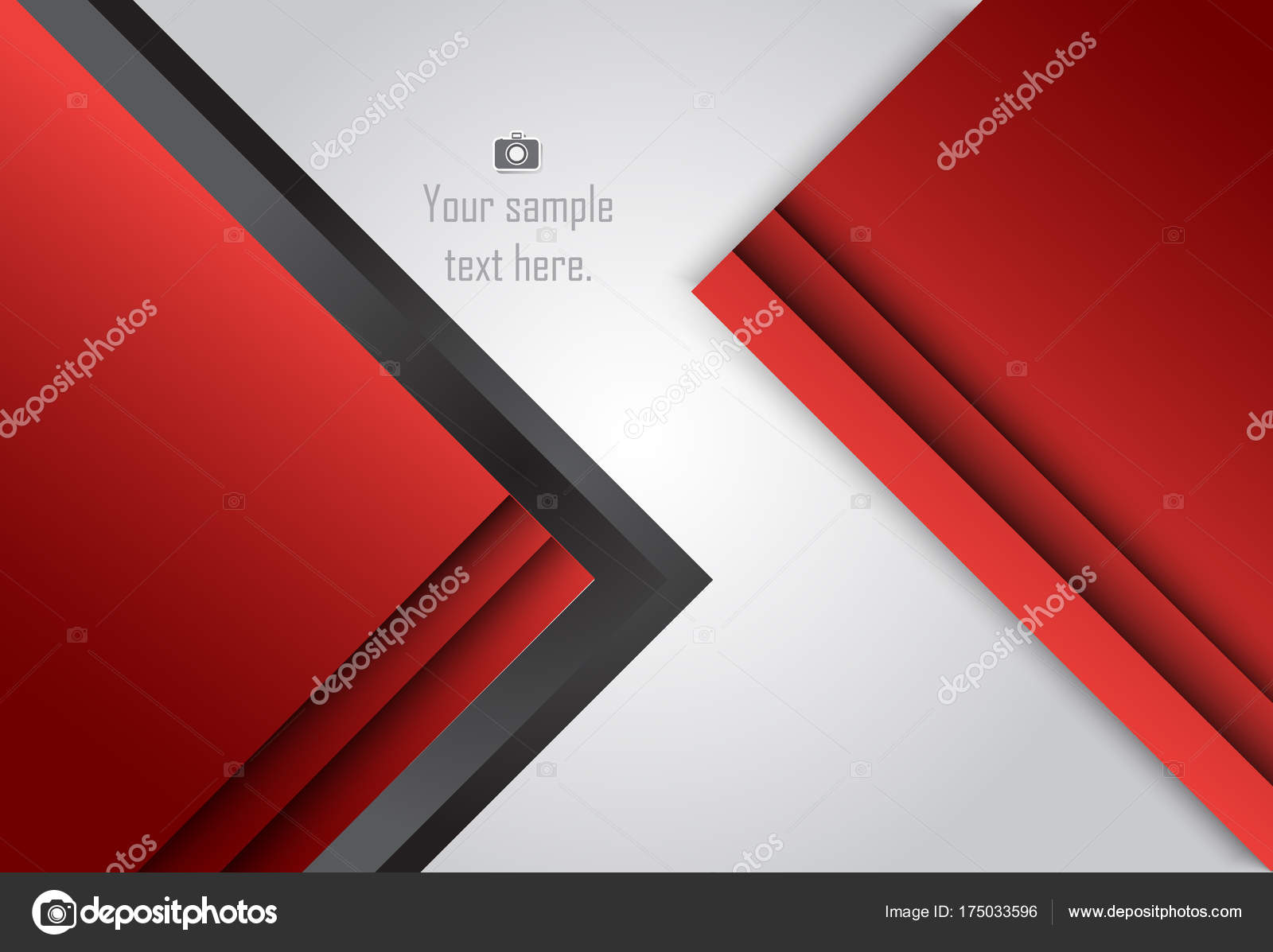 Fondo geométrico rojo capa abstracta para l tarjeta, anual — Archivo ...