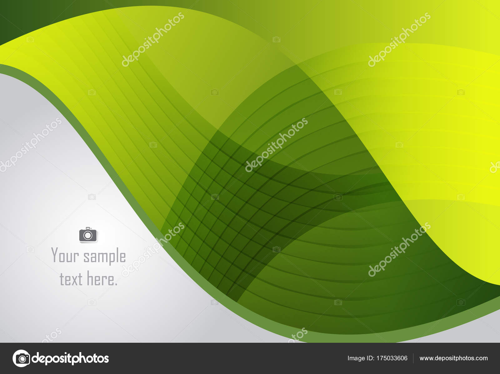 Fondo geométrico verde capa abstracta para busi tarjeta, anual ...