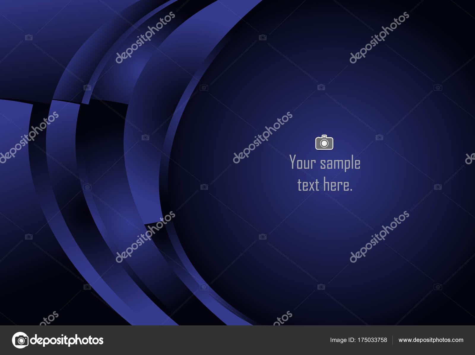 Fondo de curva geométrica capa abstracto azul para la tarjeta anual ...