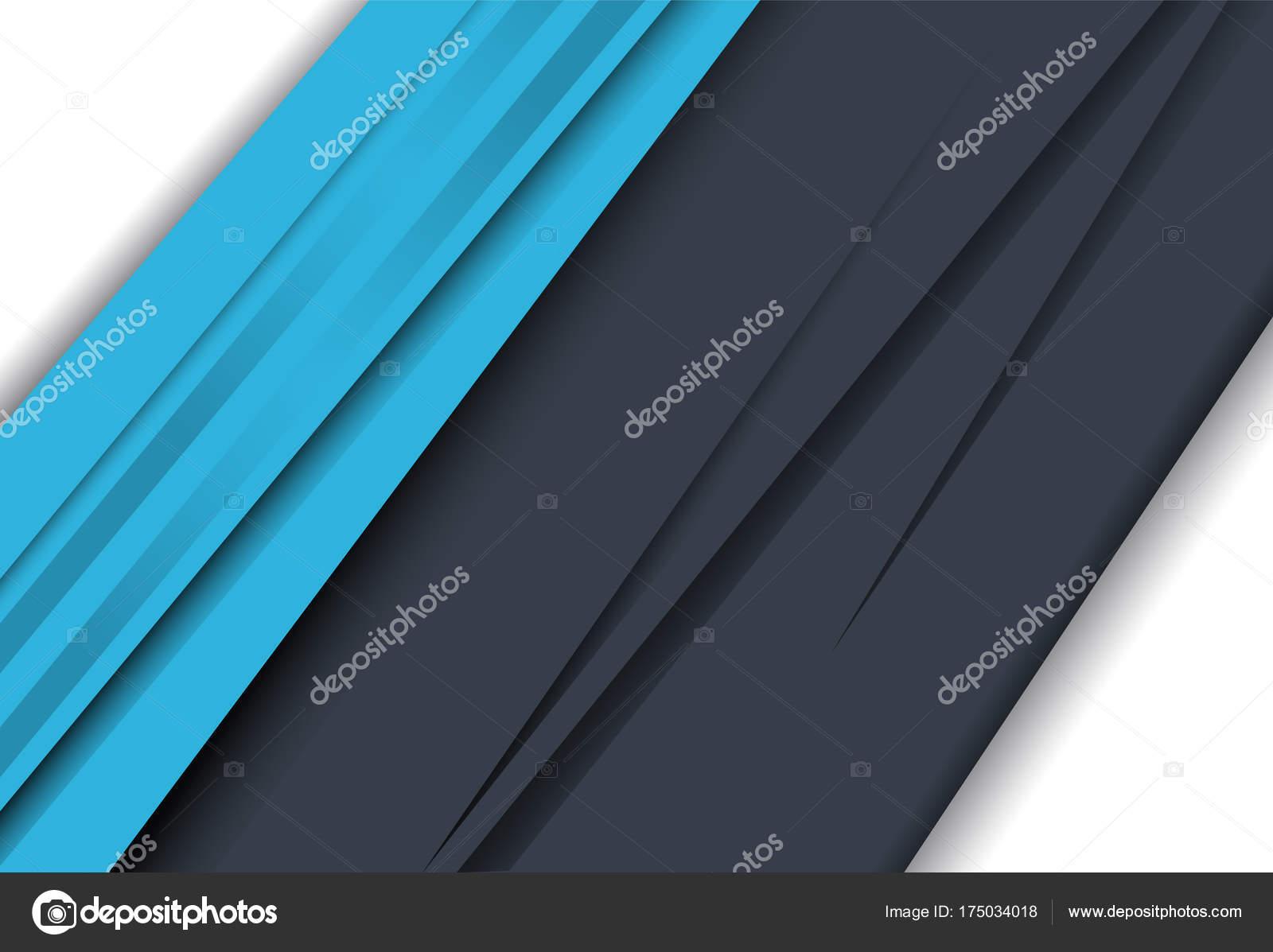 Azul y blanco Resumen diseño material geométrico de capa para ...