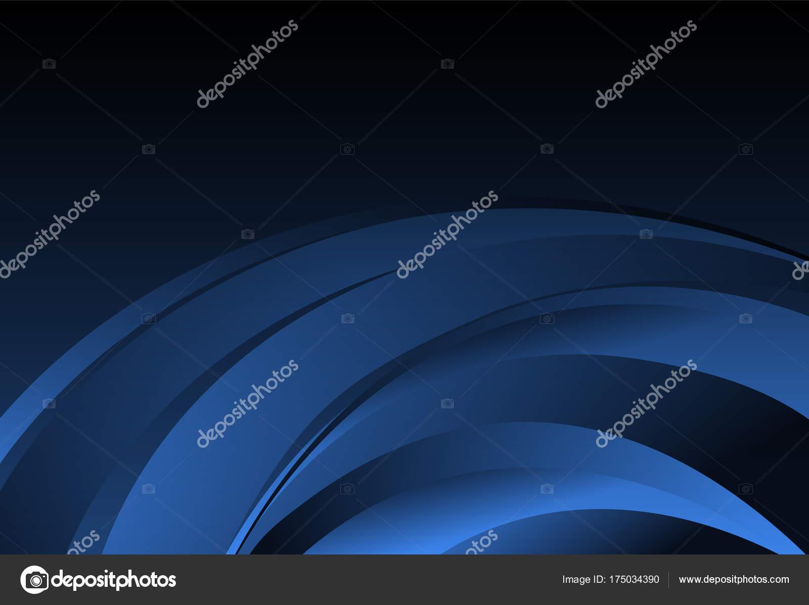 Fondo de curva azul capa abstracta para el negocio de tarjetas ...