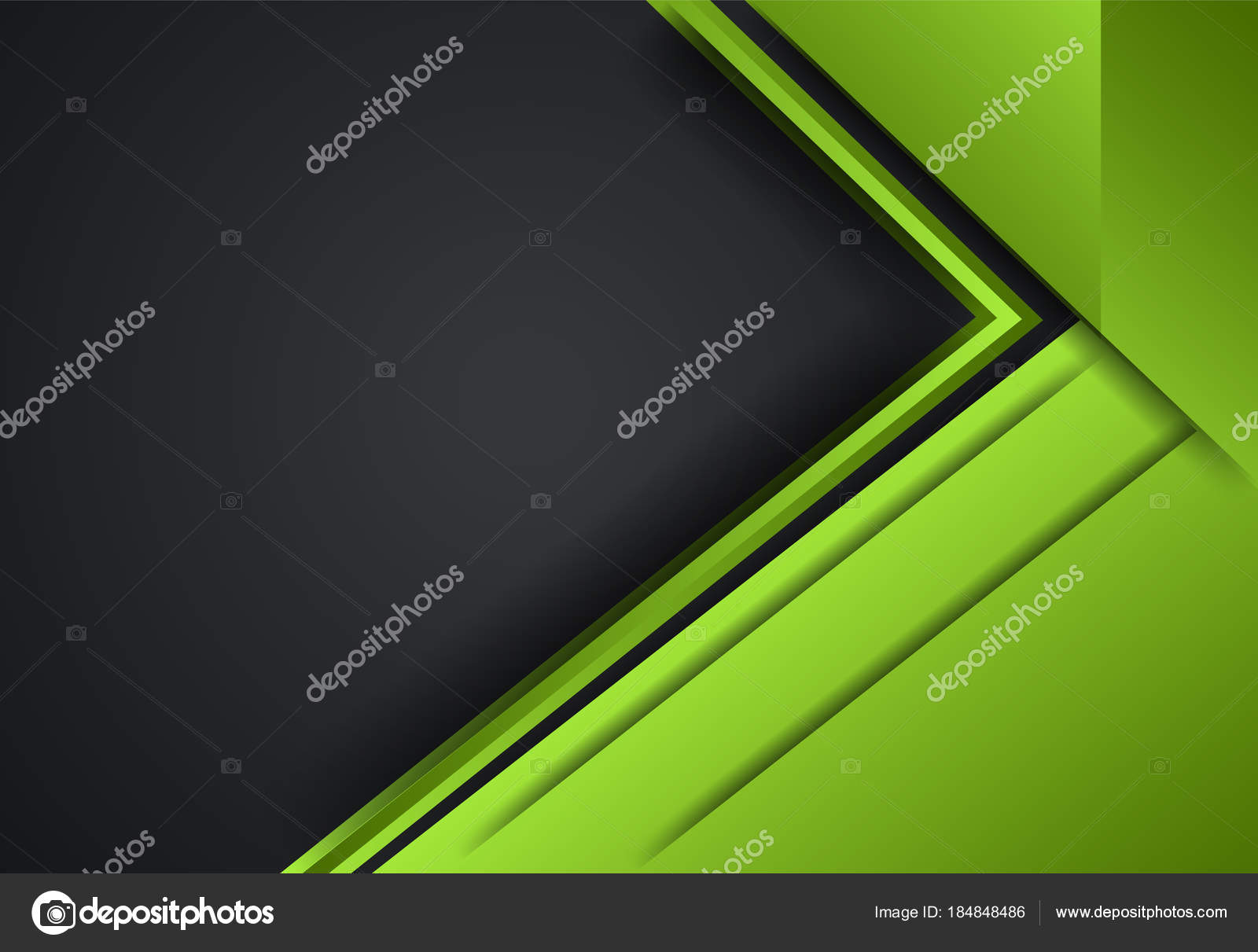 Verde y negro abstracto fondo geométrico de capa para la tarjeta ...
