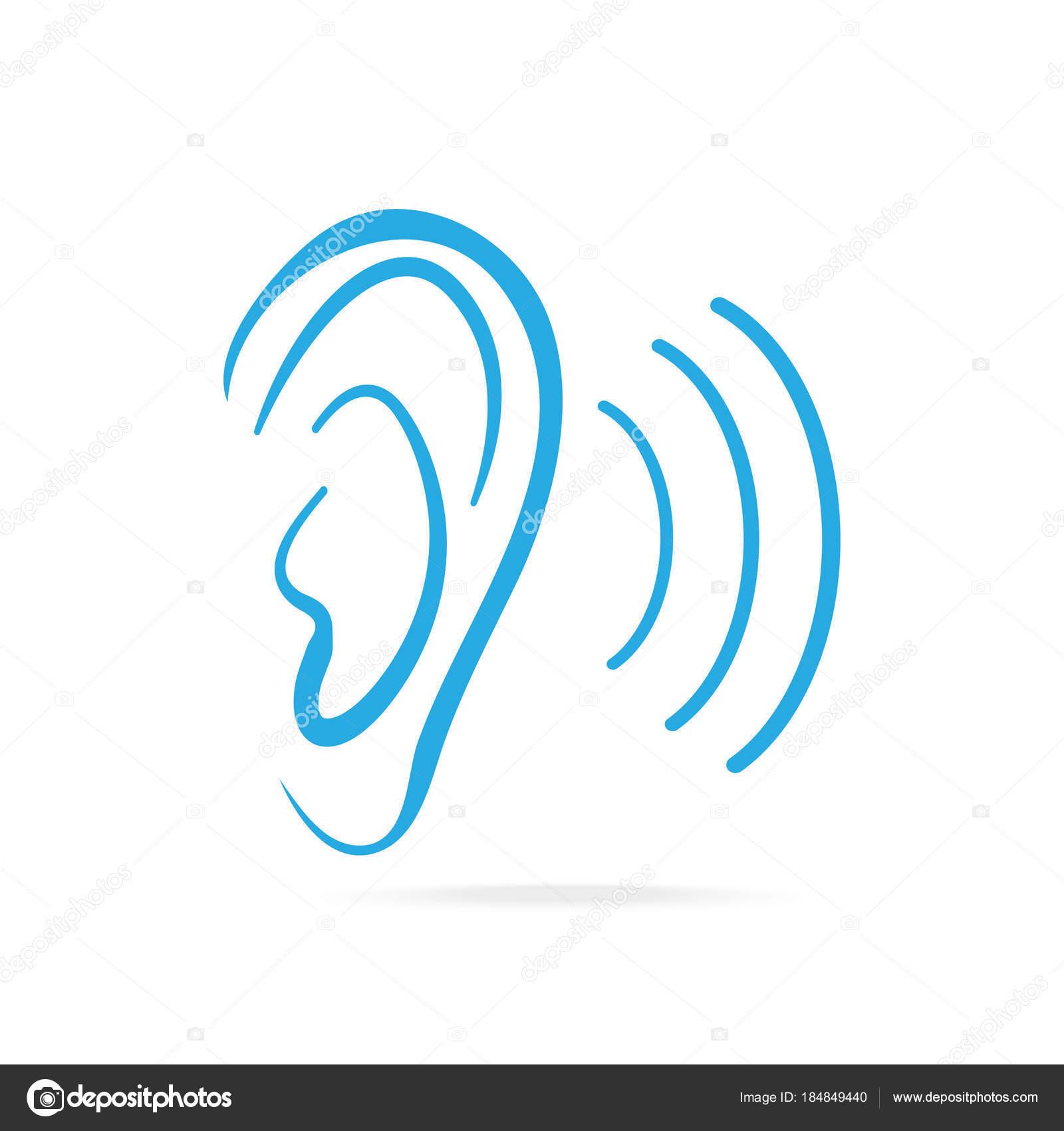 icono azul de la oreja el o do y el icono de o do archivo im genes vectoriales keath369. Black Bedroom Furniture Sets. Home Design Ideas