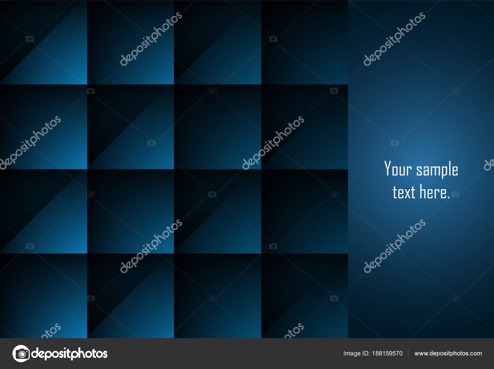 Fondo geométrico azul capa abstracta para tarjeta anual busin ...