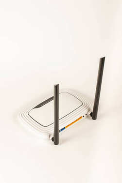 WiFi router isolated on the white background
