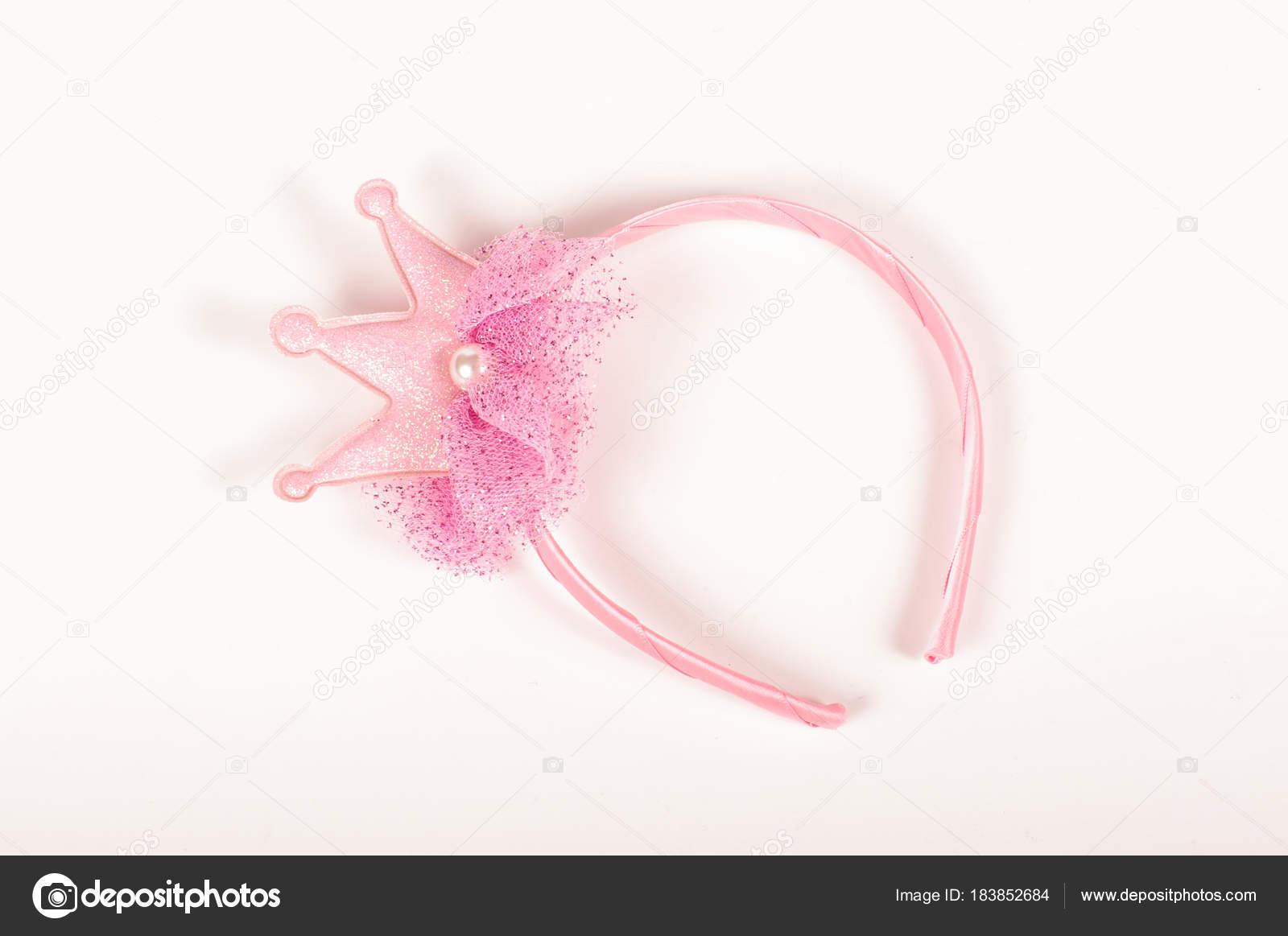 ajuste clásico nueva llegada bajo costo Diadema princesa rosa para niñas aislado sobre fondo blanco ...
