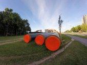 Fotografie Rekonstruktion der Leitungen des Zentralheizungssystems in Kaunas, Litauen