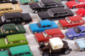 Hobbi gyűjteménye elavult die-cast autó modellek