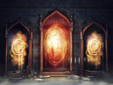 Magic chamber with mirrors
