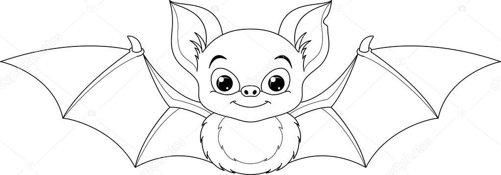 Yarasa boyama sayfas stok vekt r malyaka 126475356 - Immagini pipistrello da stampare ...