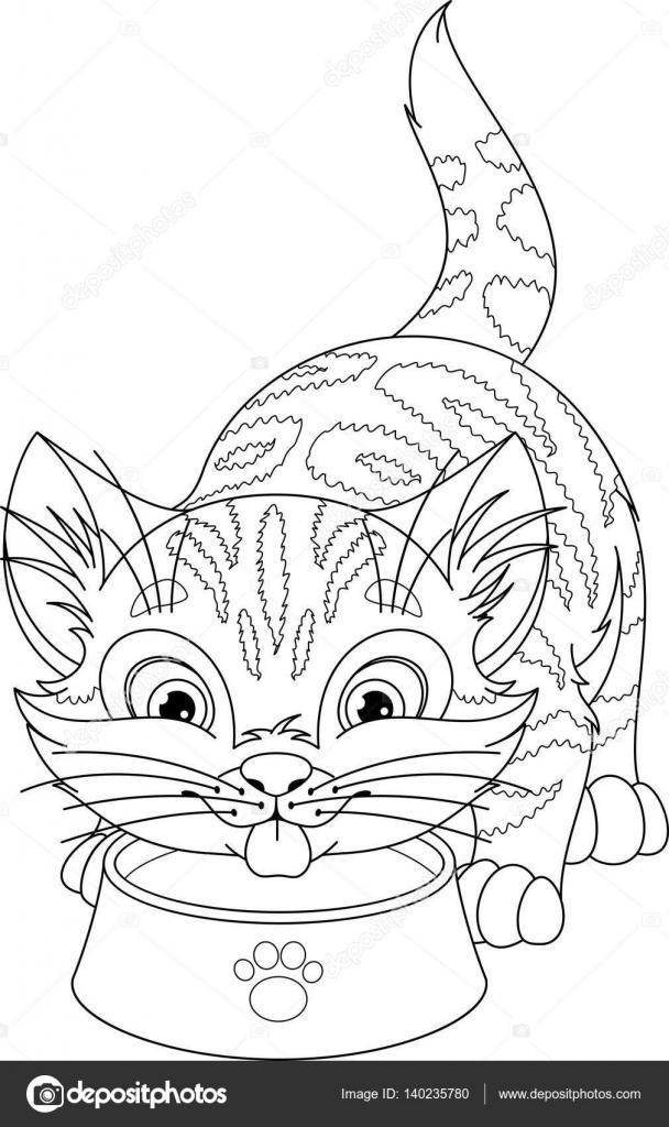 Página para colorear de gato — Vector de stock © Malyaka #140235780