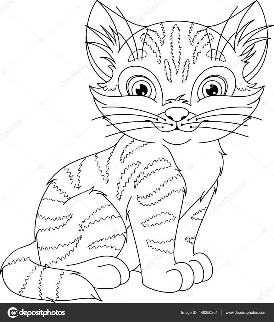 Kot Kolorowanki Grafika Wektorowa Malyaka 140250264