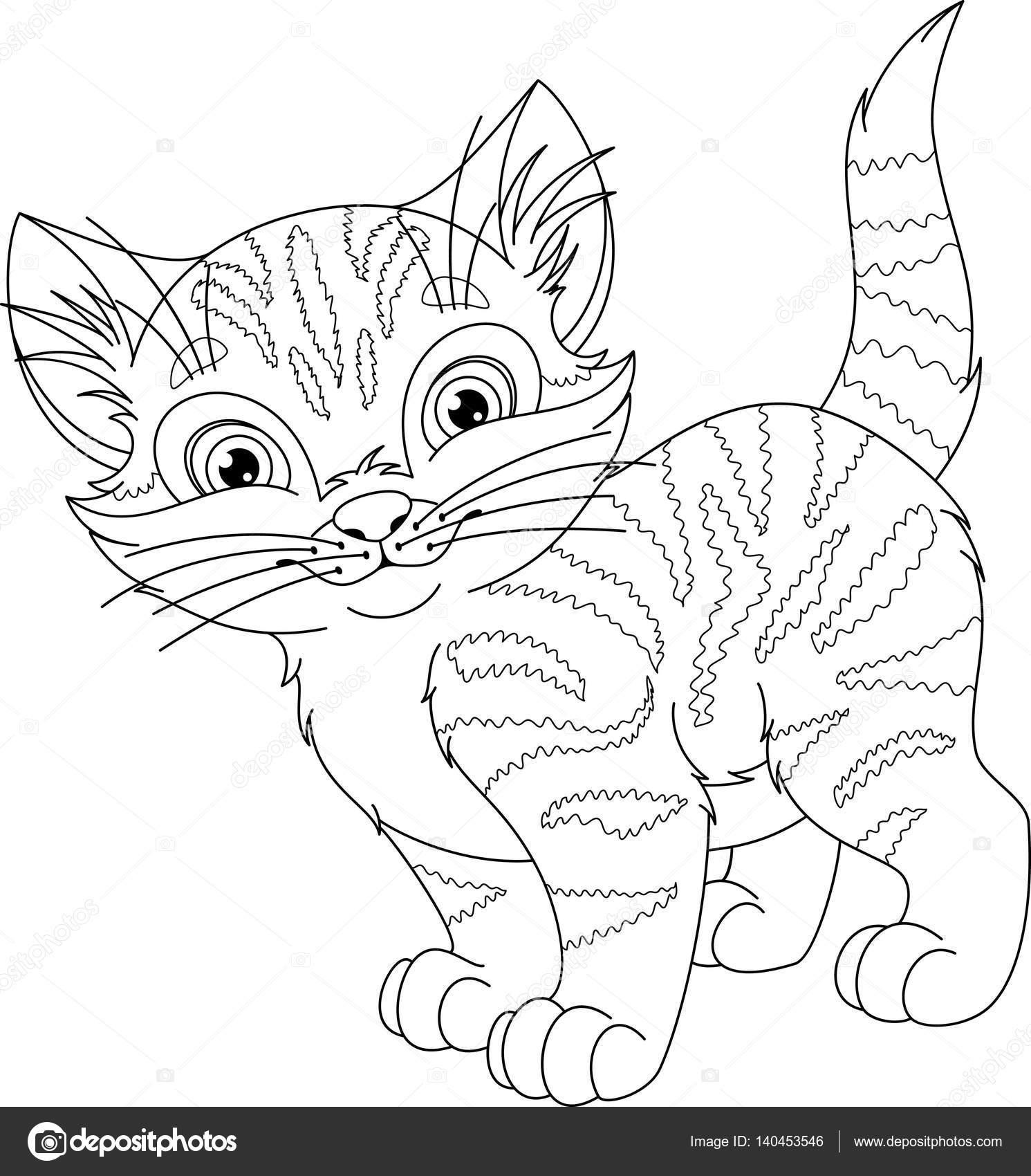 Kot Kolorowanki Grafika Wektorowa Malyaka 140453546