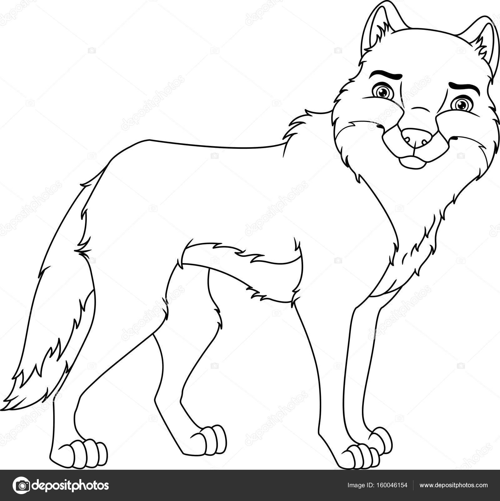 wolf kleurplaat stockvector 169 malyaka 160046154