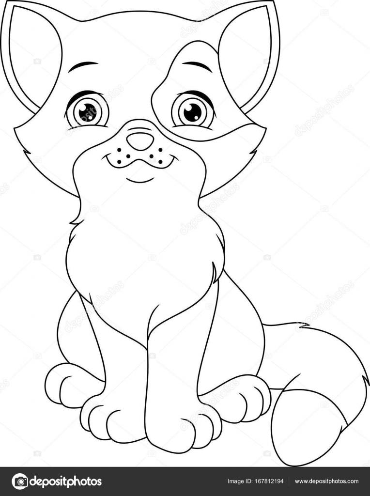 Yavru Kedi Boyama Sayfası Stok Vektör Malyaka 167812194