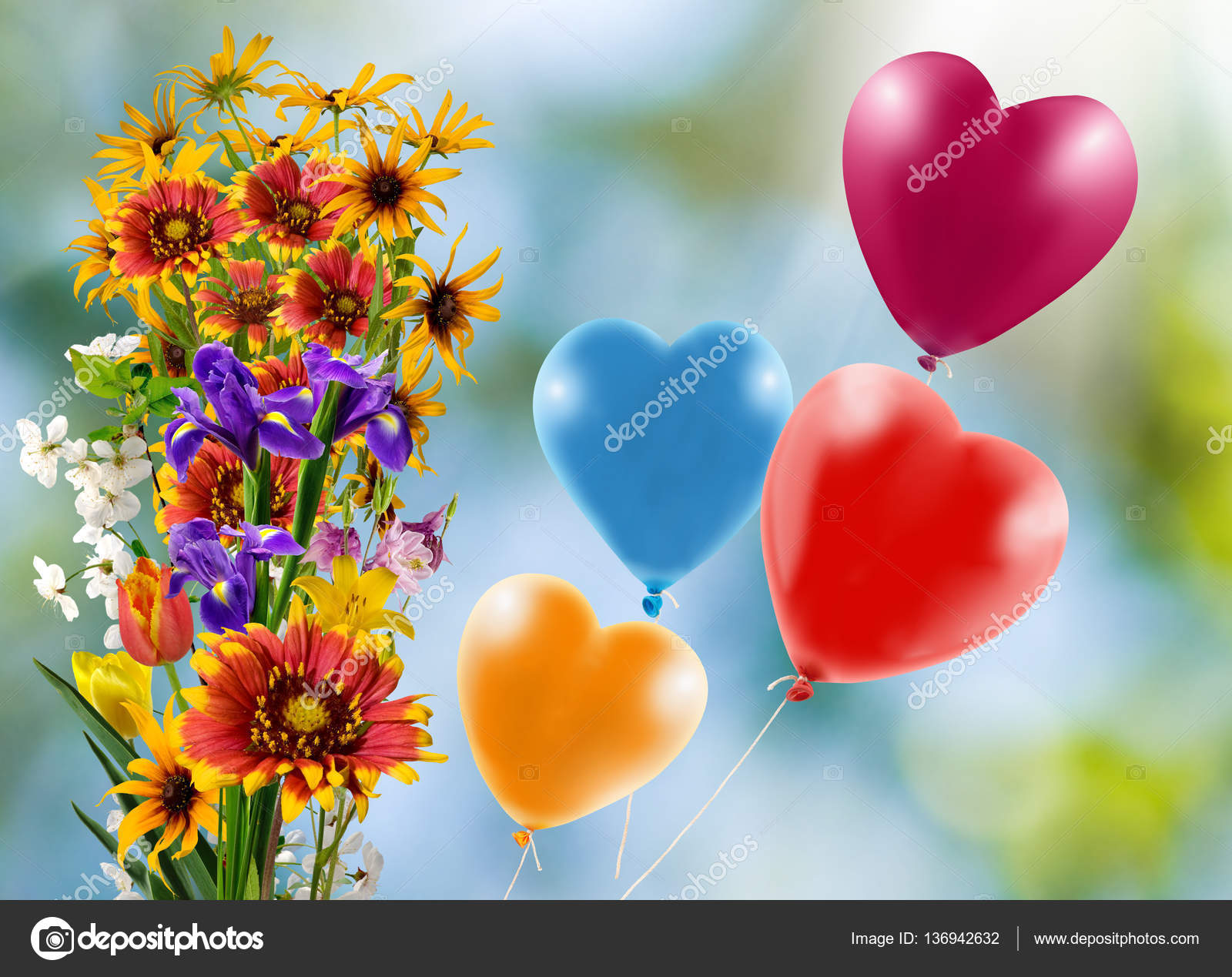 Pics Balloons And Flowers Image Of Beautiful Flowers And