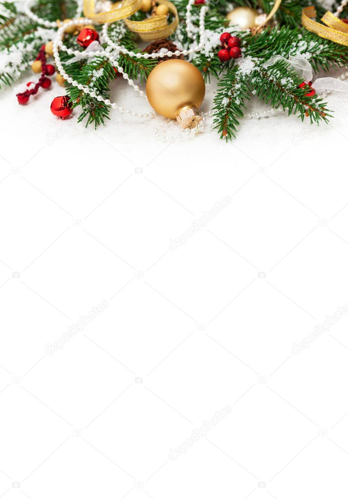 christmas and new year theme background with space for text selective focus photo by alisafarov