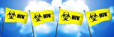 HIV flag, 3D rendering