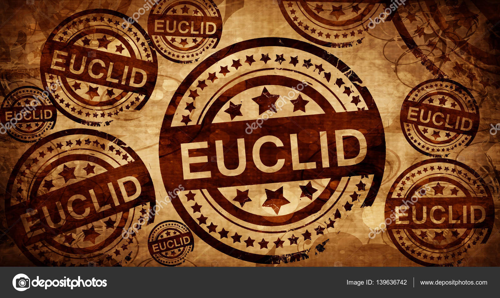 Euclid, vintage stamp on paper background — Stock Photo