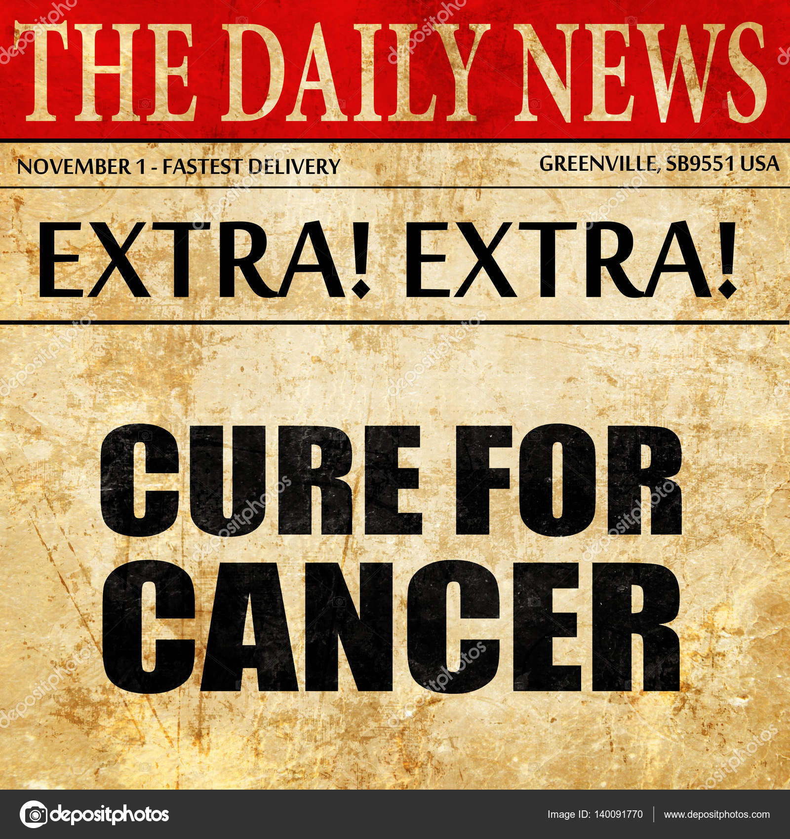 Cure for cancer, newspaper article text — Stock Photo © ellandar
