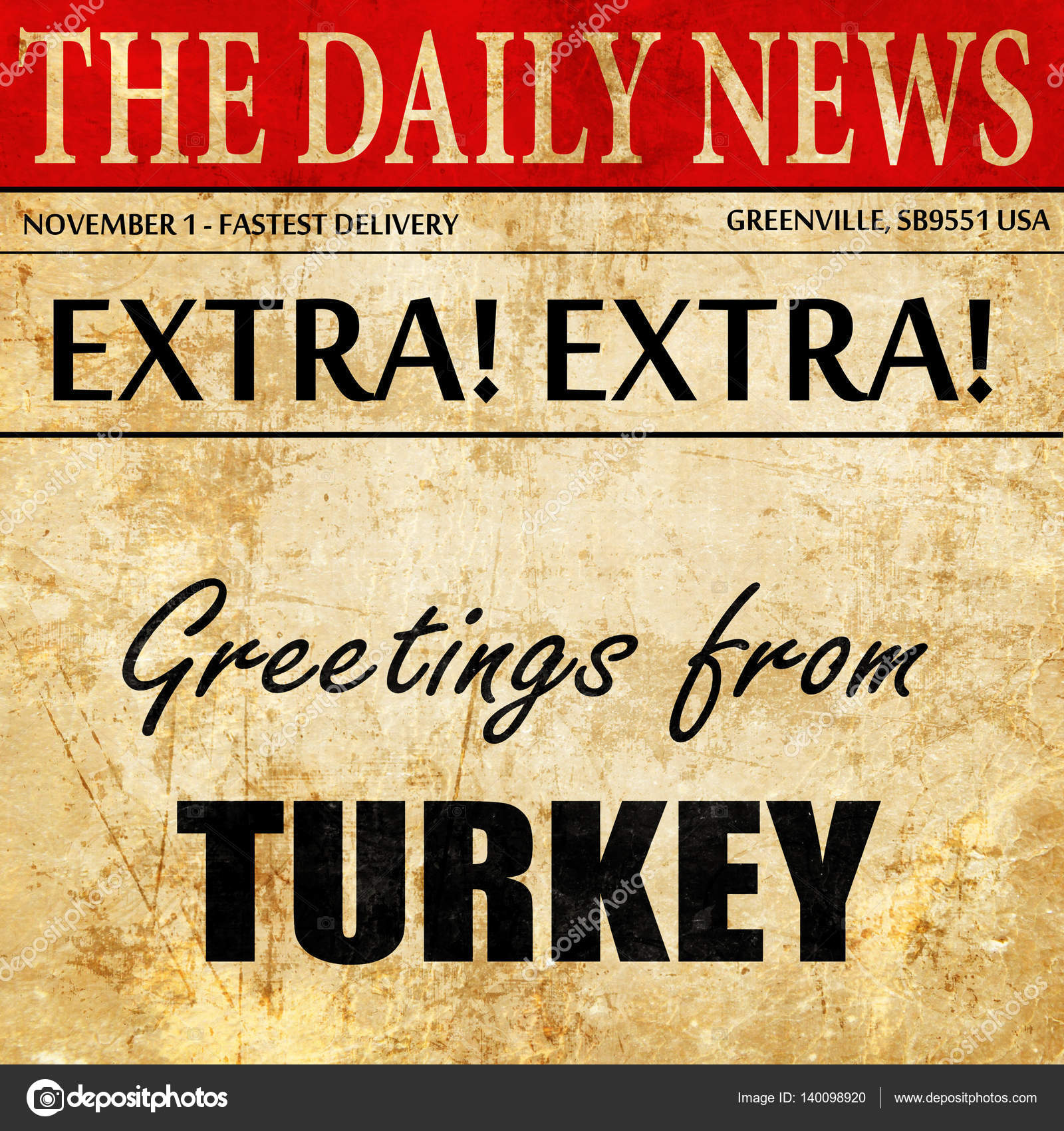 Greetings from turkey newspaper article text stock photo greetings from turkey newspaper article text stock photo m4hsunfo