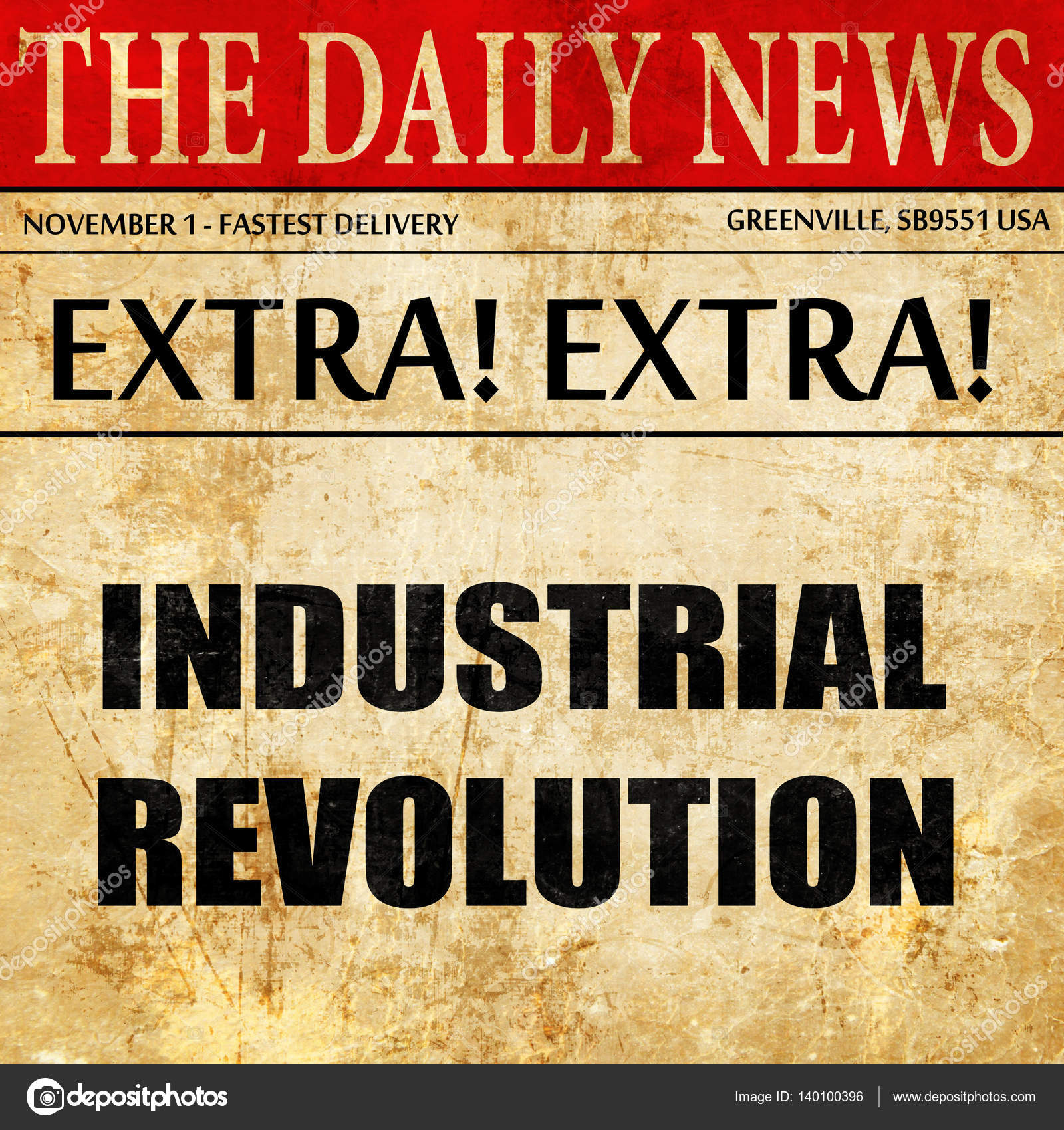 Industrial Revolution Newspaper Editorial Paper